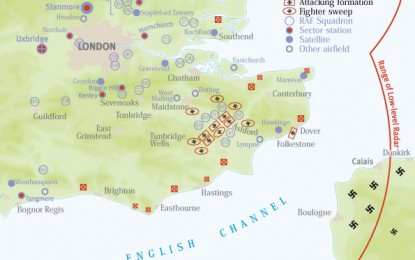 Battle of Britain Day Map: the Afternoon Attack