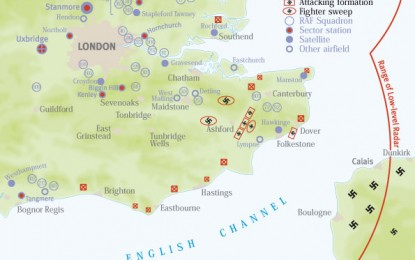 Battle of Britain Day Map: the Noon Attack