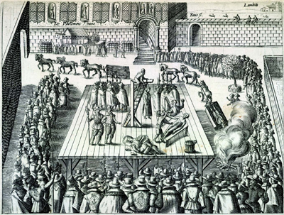 Drawing and quartering was rich in symbolism following sentencing the