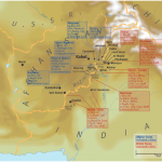 Map of the Third Afghan War 1919