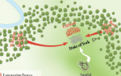 Map of the Battle Of Wakefield, 30th December 1460 – War of the Roses