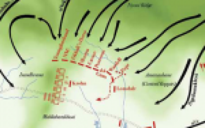 Map of the Battle of Isandlwana,  22 January 1879 : Zulu Wars