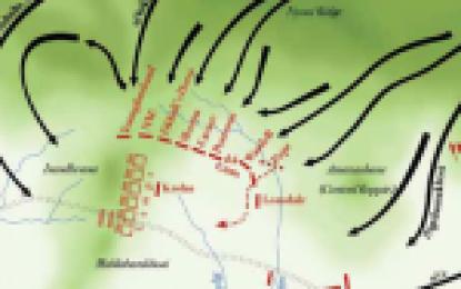 Map of the Battle of Isandlwana,  22 January 1879 : Zulu Wars