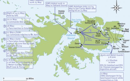 Falklands – troop manoeuvres