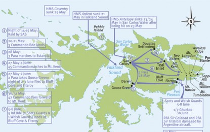 Falklands – troop manoeuvres