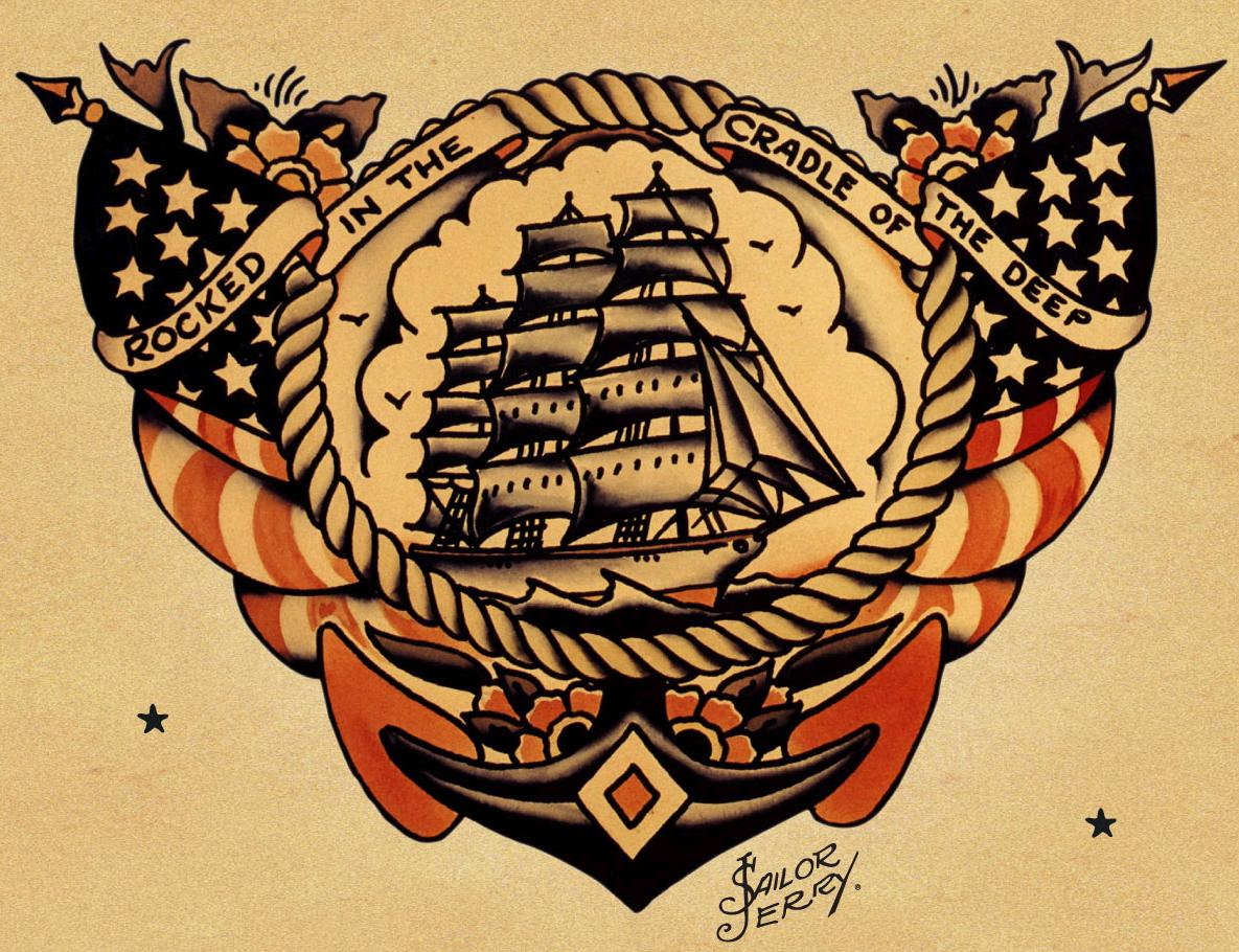 War culture maritime tattoos military history monthly for Sailer jerry tattoo