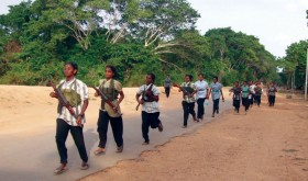 Tamil Tiger recruits in training.