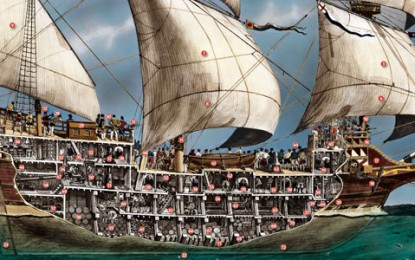 CROSS SECTION – Inside a 16th-century galleon