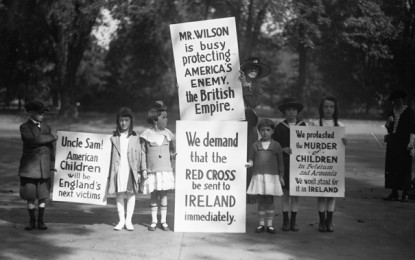 BEHIND THE IMAGE – Child Protesters with Signs, 1920