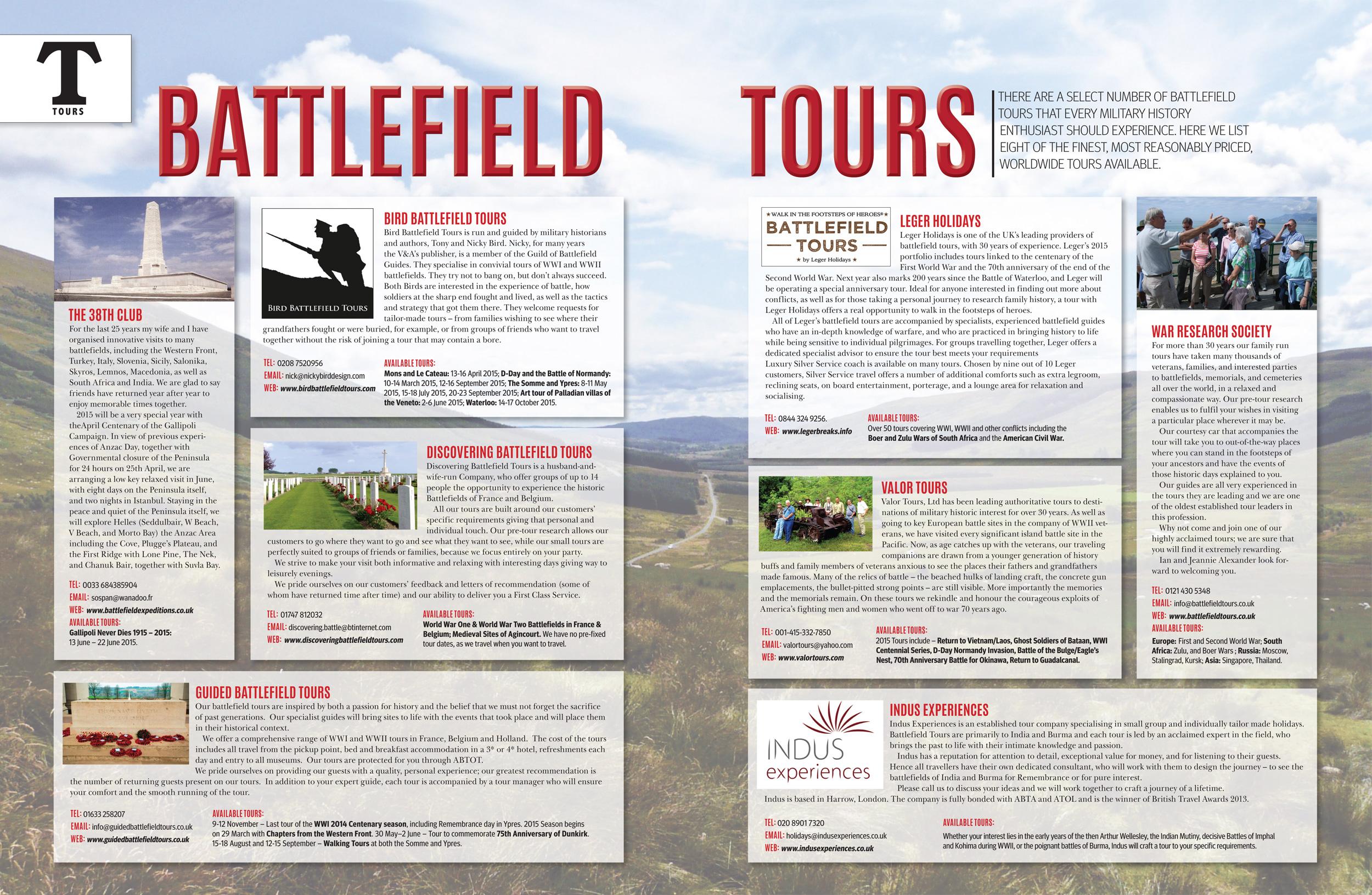 Battlefield Tours – Military History Matters