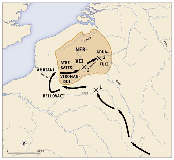 Caesar's-Military-Campaign-of-57-BC