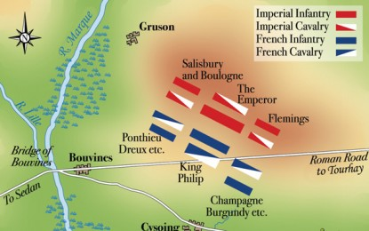 BATTLE MAP: The Battle of Bouvines, 1214