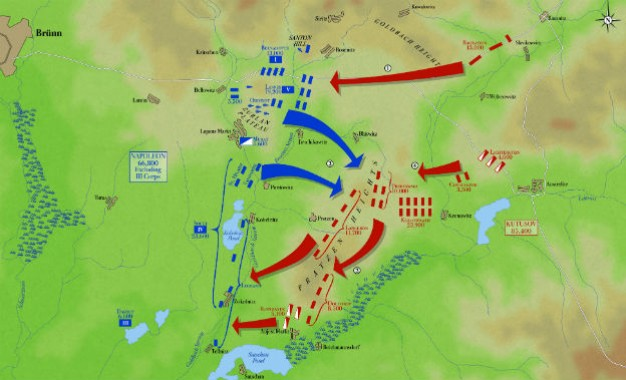 BATTLE MAP: The Battle of Austerlitz, 2 December 1805
