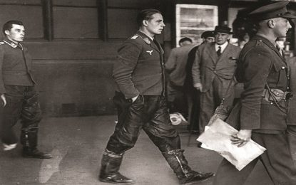 BEHIND THE IMAGE: captured Luftwaffe crewmen, London Underground, 1940