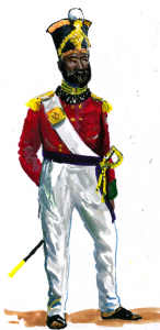 Artist's impression of an officer of the 10th Bombay Native Infantry 1857