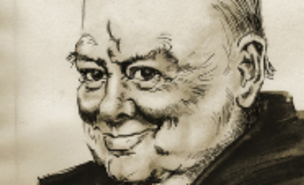 World's only portrait signed by Churchill displayed