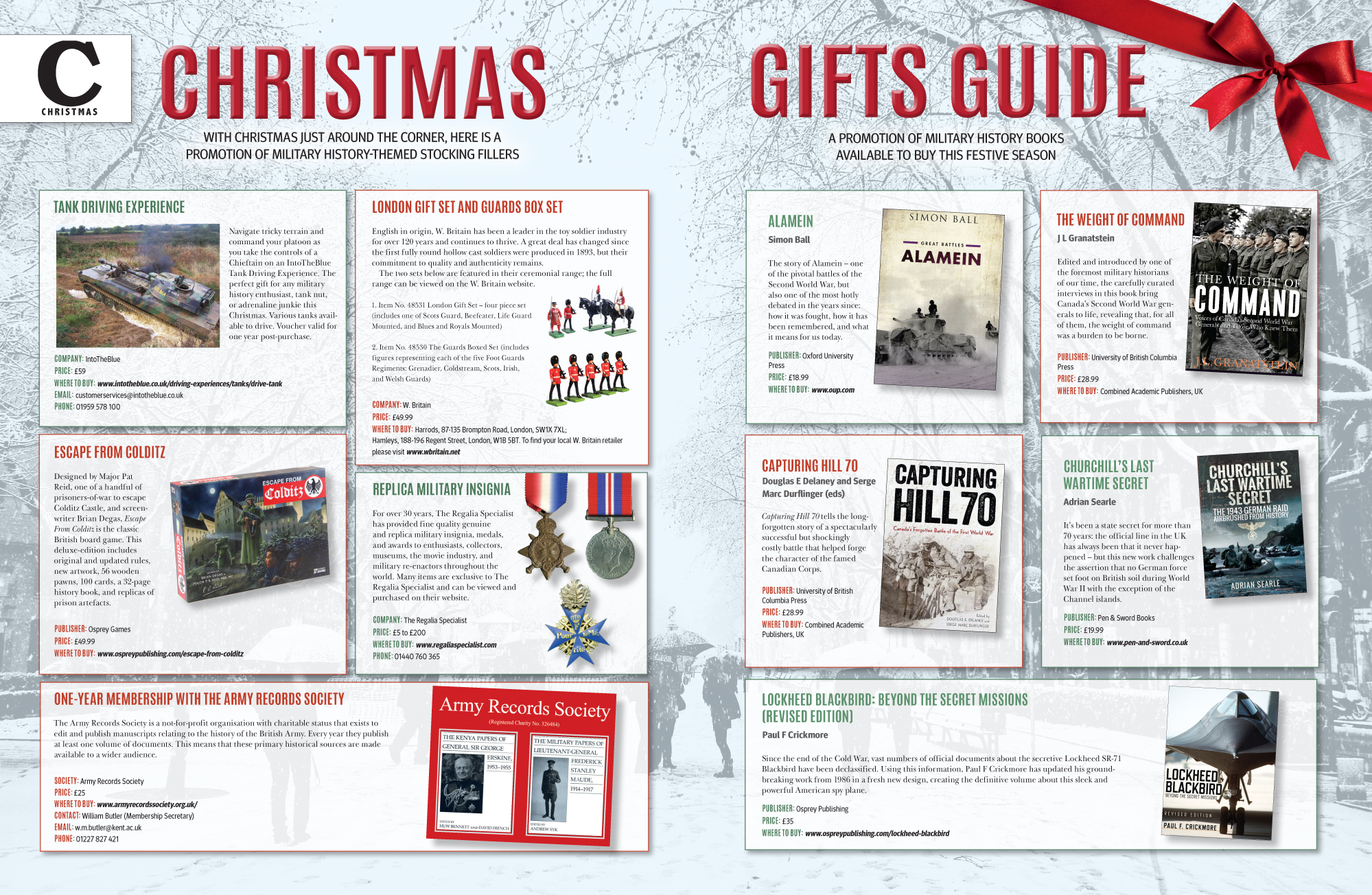 Christmas Gifts Guide – Military History Monthly