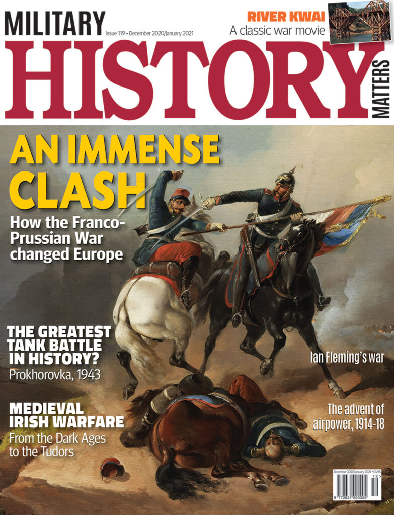 Front cover of Military History Matters 119, the December 2020/January 2021 issue.